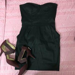 Dresses & Skirts - Black strapless mini dress